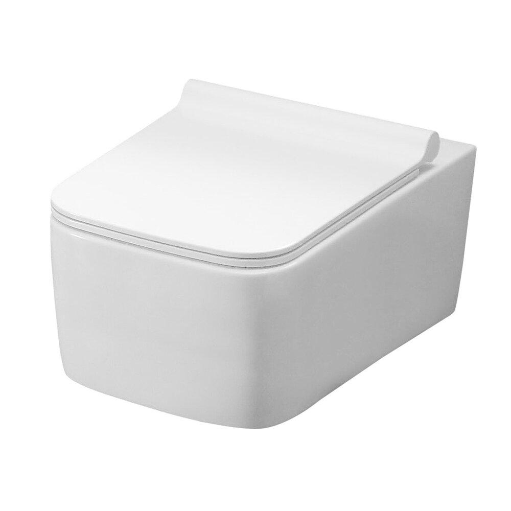 Set vas wc suspendat Rea Rico rimless capac slim softclose imagine
