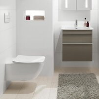Set vas wc suspendat Villeroy&Boch Venticello Direct Flush cu capac slim soft close
