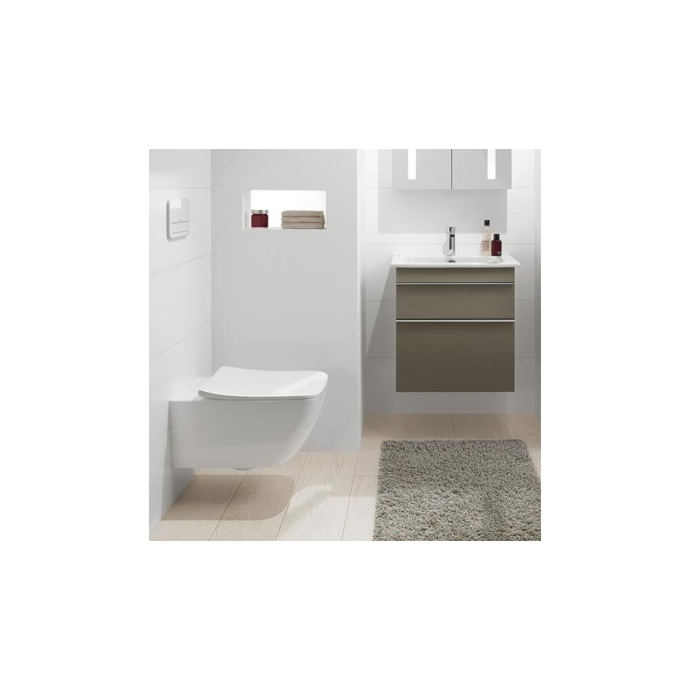 Set vas wc suspendat Villeroy&Boch Venticello Direct Flush cu capac slim soft close imagine neakaisa.ro