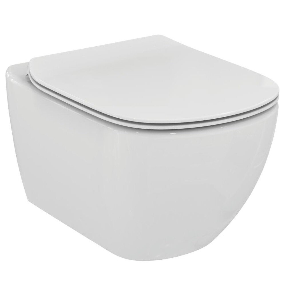 Set vas wc suspendat Ideal Standard Tesi Aquablade cu capac slim softclose imagine neakaisa.ro