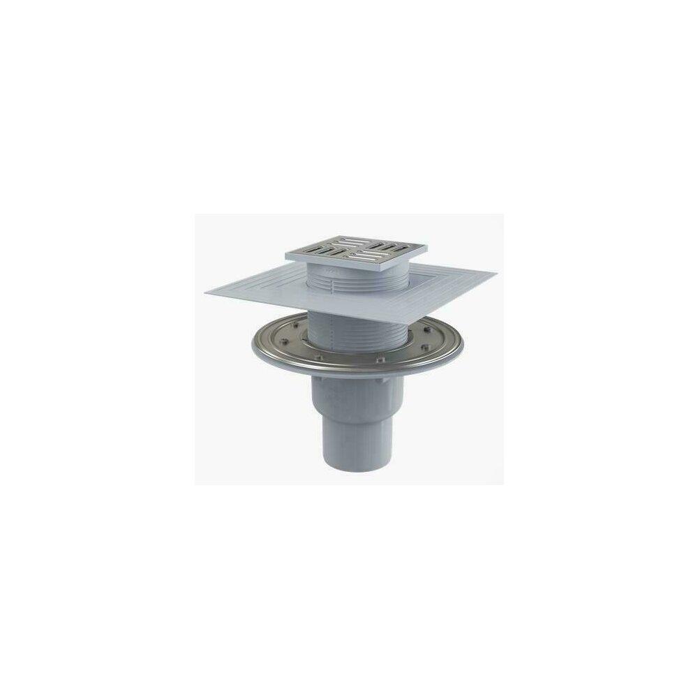 Sifon pardoseala 105 x 105/50/75 cu inaltator, iesire verticala, sistem de retinere a mirosurilor APV2324 Alcaplast poza