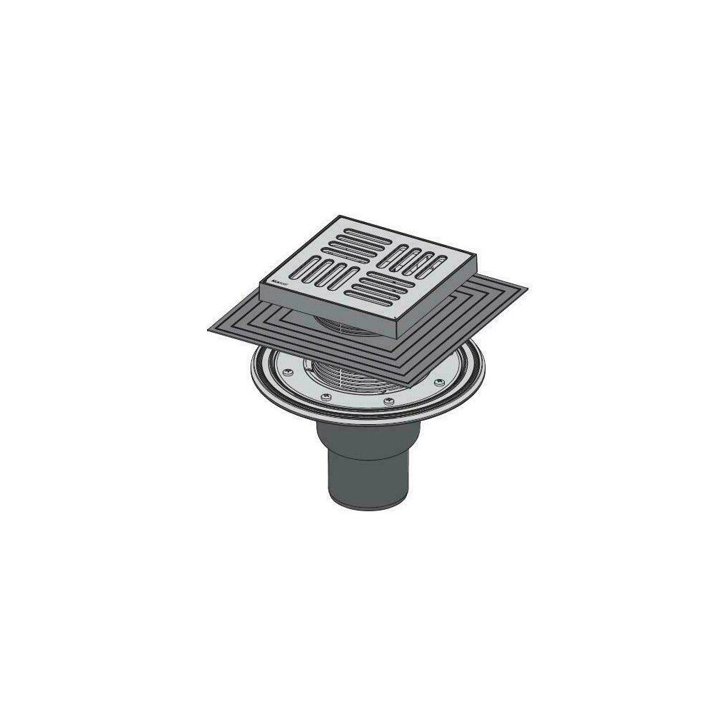 Sifon pardoseala 150 x 150/50/75 cu inaltator, iesire verticala, sistem de retinere a mirosurilor APV4444 Alcaplast poza