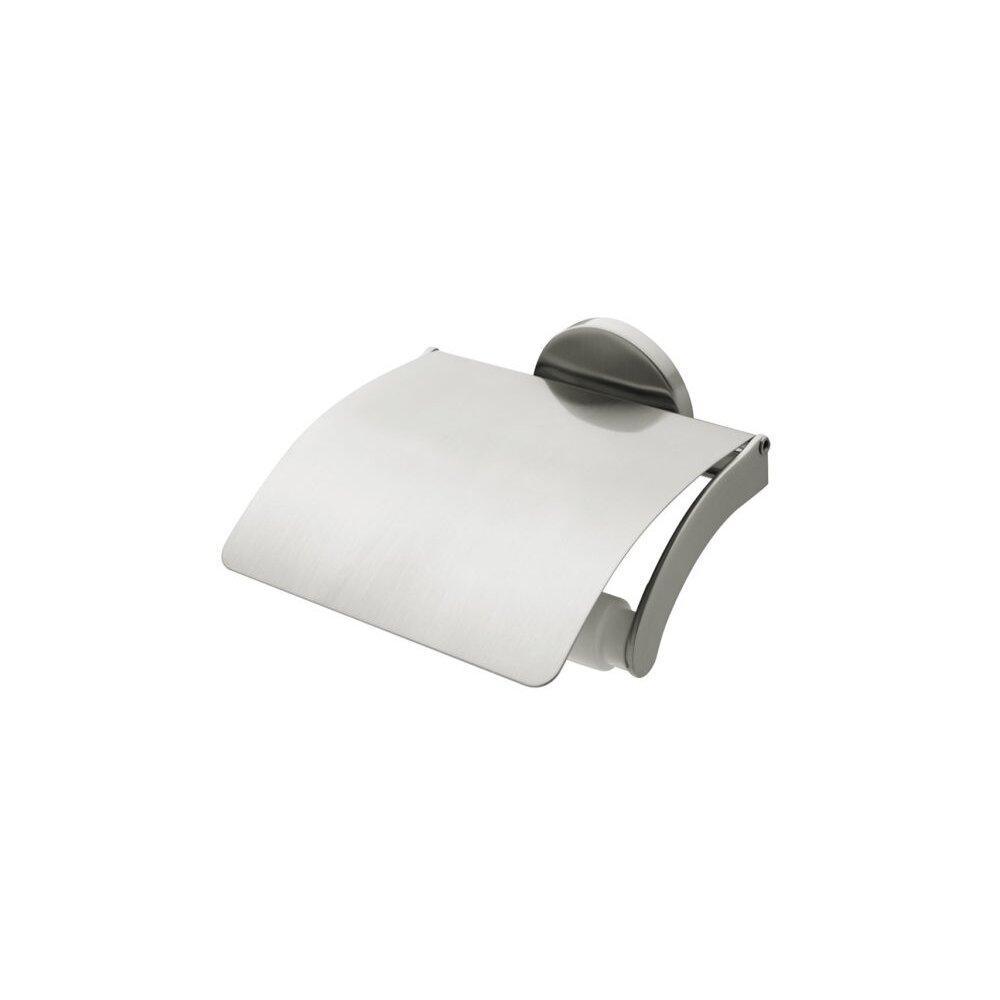 Suport hartie igienica cu aparatoare crom Bisk Virginia poza