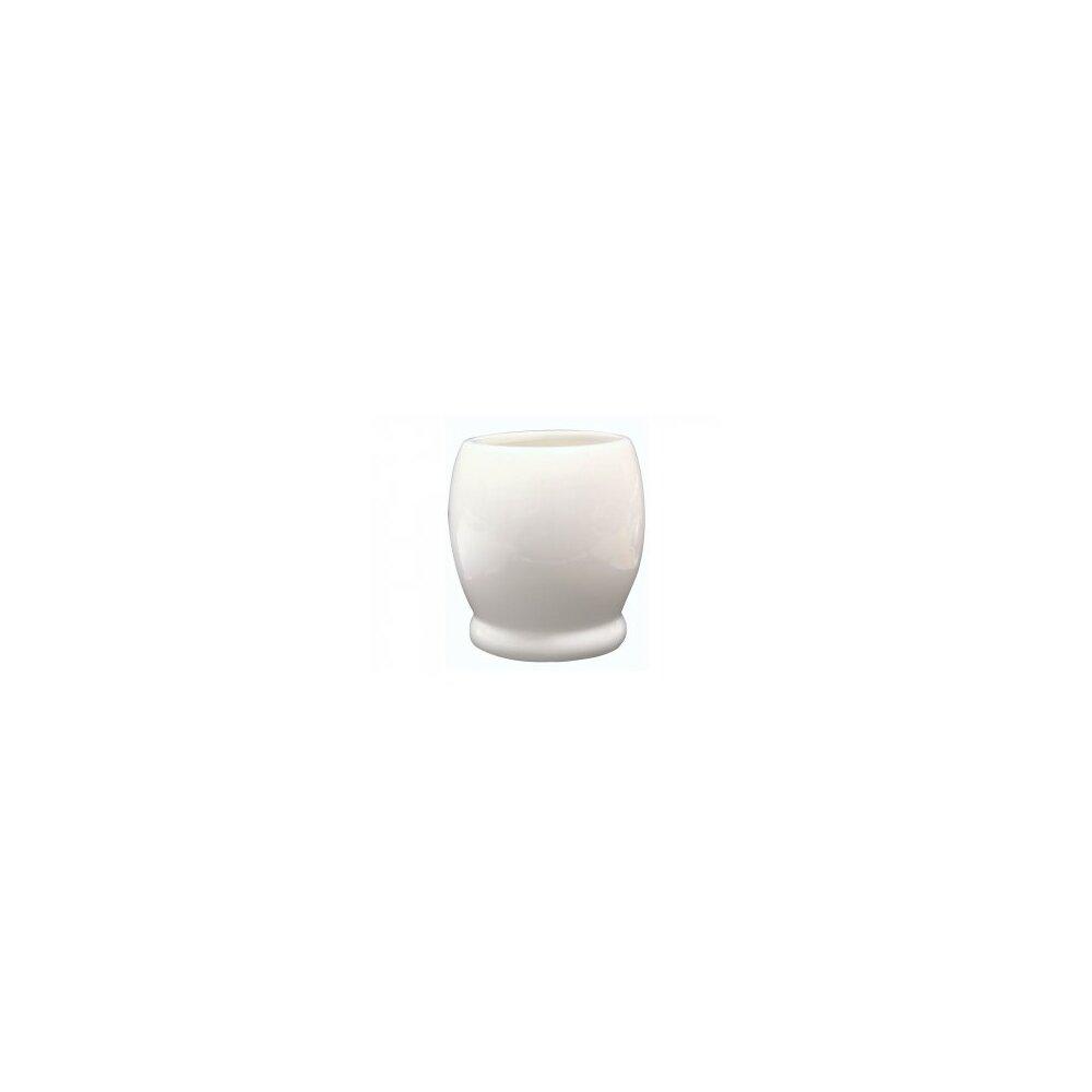 Suport periute de dinti alb maro cu pahar Bisk Barrel( 496540)