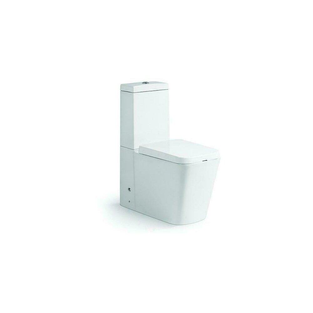Set vas de toaleta Dalet Square cu rezervor ceramic si capac soft close, Duobloc poza