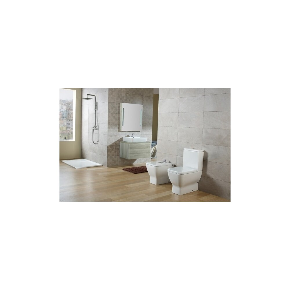 Vas wc pe pardoseala compact pentru rezervor asezat Gala Emma Square imagine