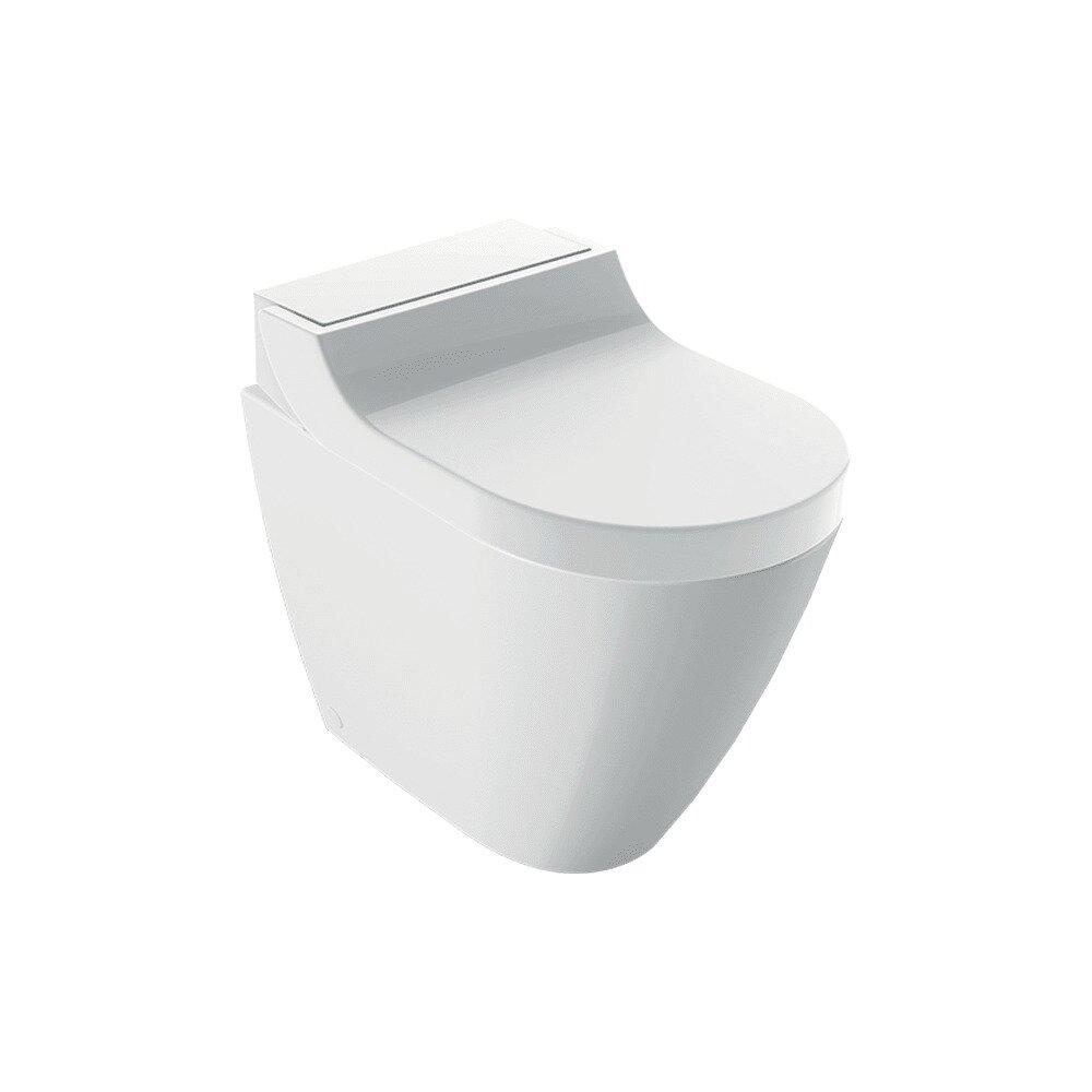 Vas wc pe pardoseala Geberit Aquaclean Tuma Comfort alb alpin cu functie de bideu electric neakaisa.ro
