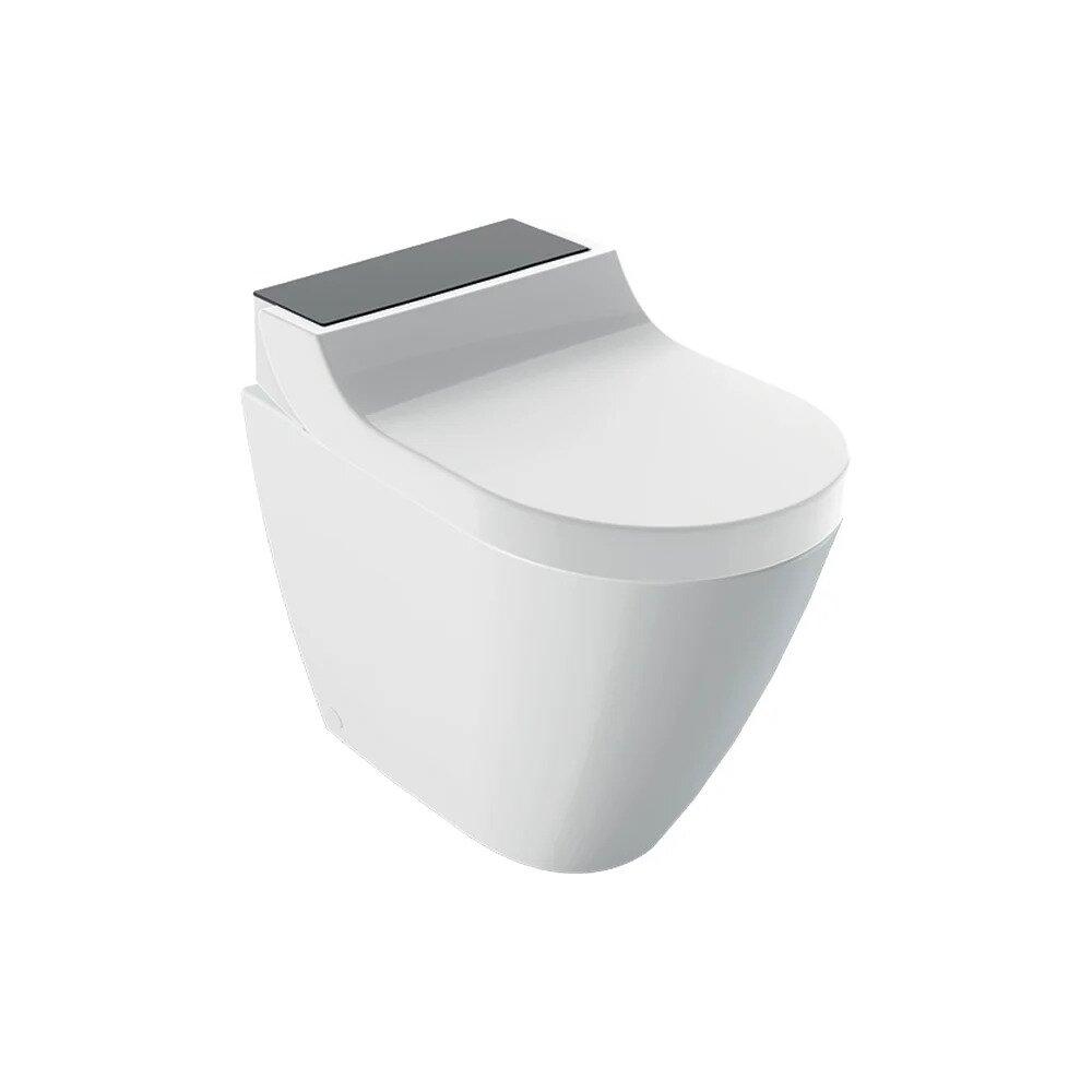 Vas wc pe pardoseala Geberit Aquaclean Tuma Comfort negru cu functie de bideu electric