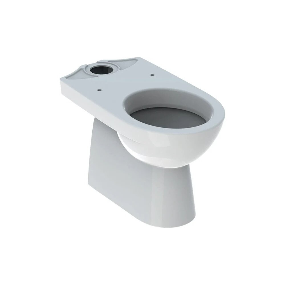 Vas wc pe pardoseala Geberit Selnova cu spalare verticala evacuare verticala forma partial inchisa imagine