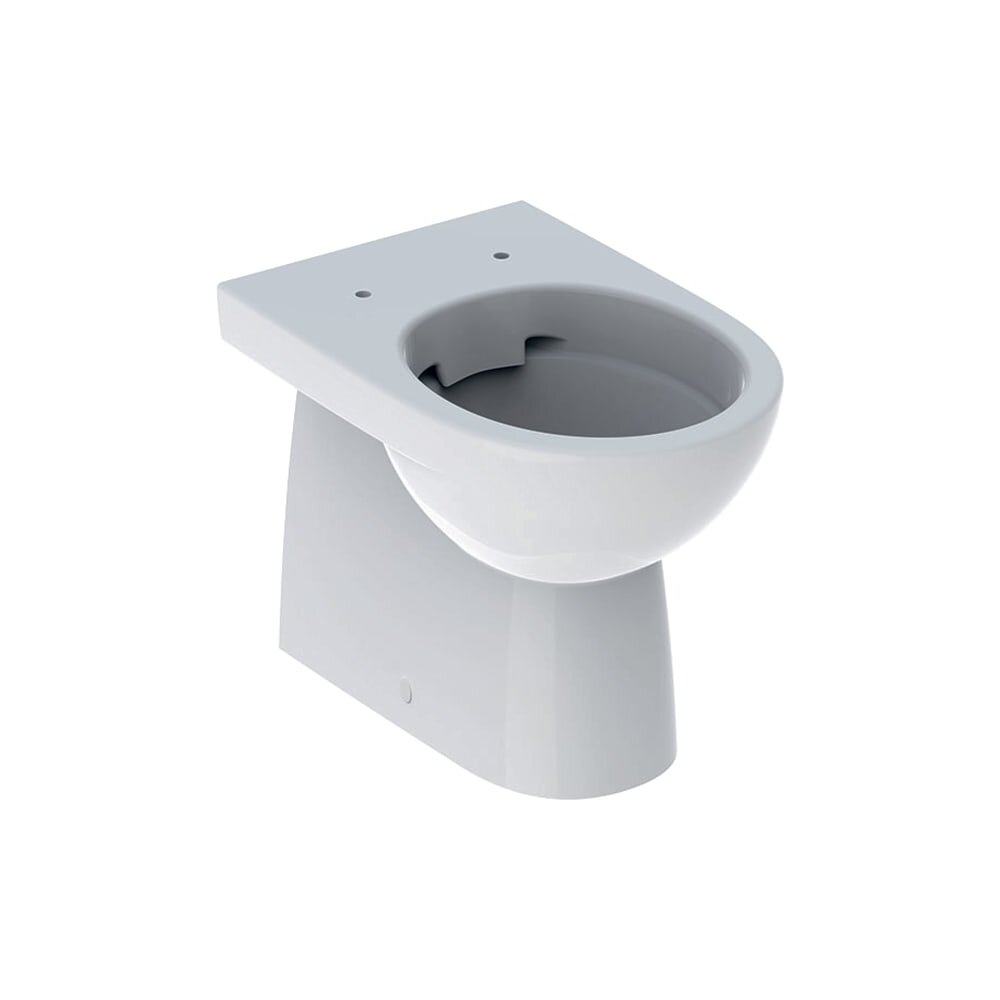 Vas wc pe pardoseala Geberit Selnova Rimfree Back-to-Wall fara capac alb