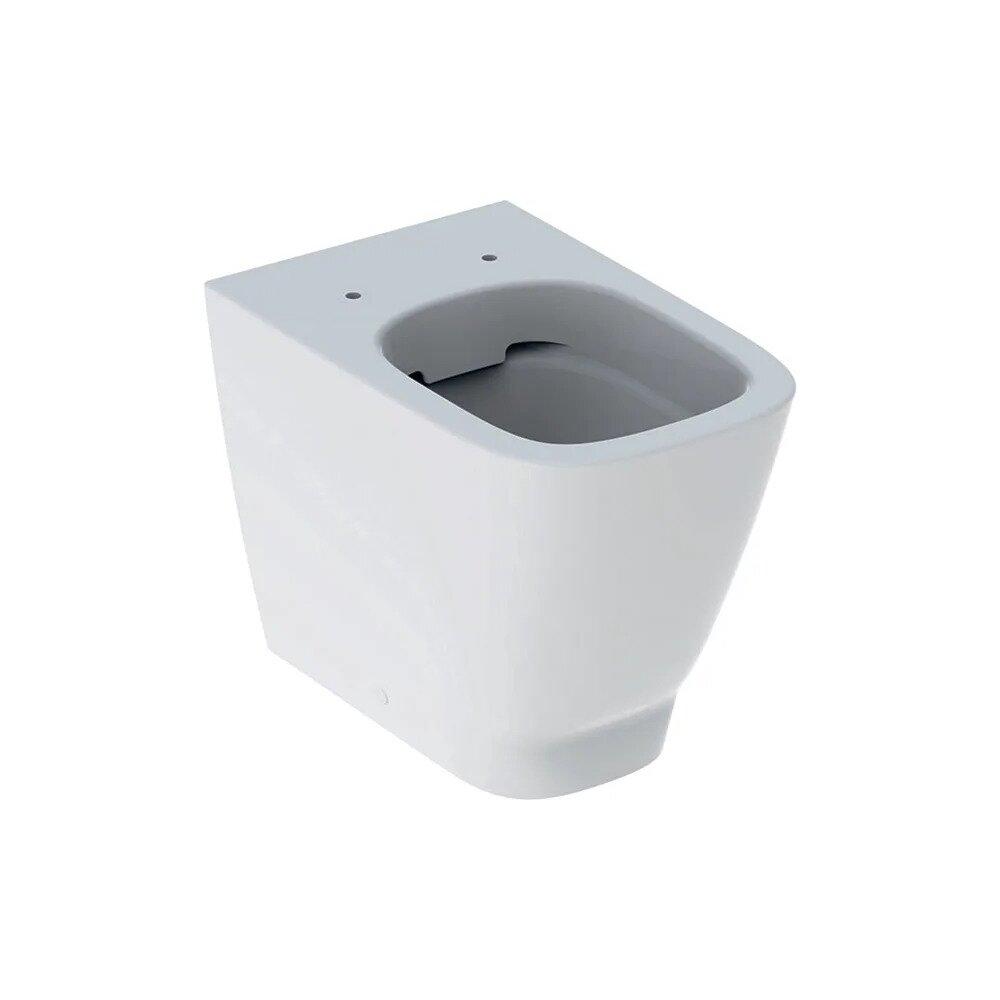Vas wc pe pardoseala Geberit Smyle Square Rimfree fara capac alb