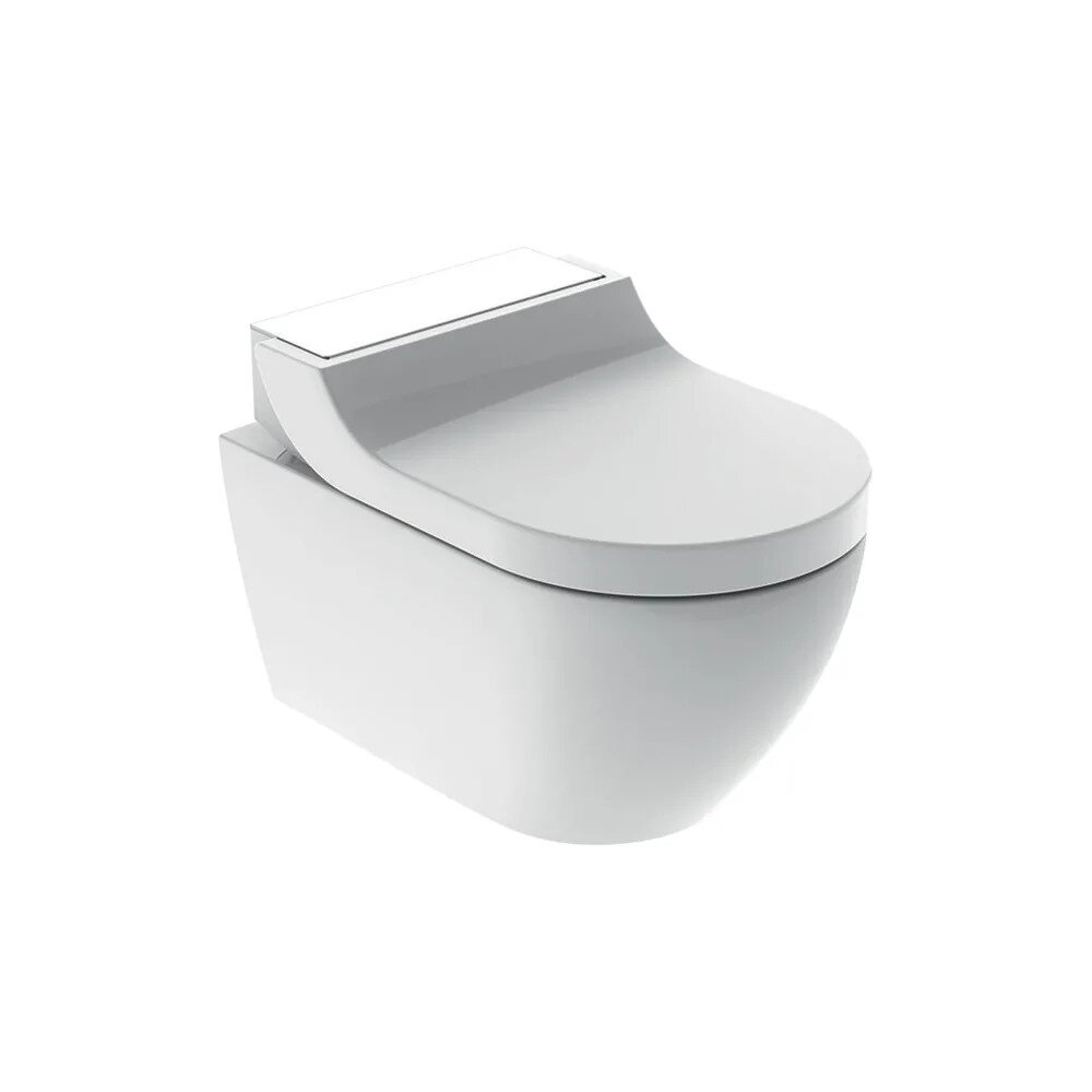 Vas wc suspendat Geberit Aquaclean Tuma Comfort alb cu functie de bideu electric imagine neakaisa.ro