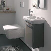 Vas wc suspendat Geberit iCon Square Rimfree cu capac inchidere lenta