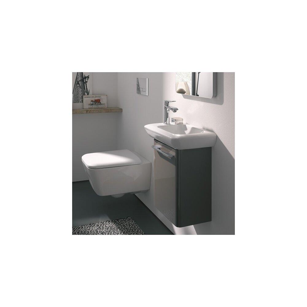 Vas wc suspendat Geberit iCon Square Rimfree cu capac inchidere lenta neakaisa.ro