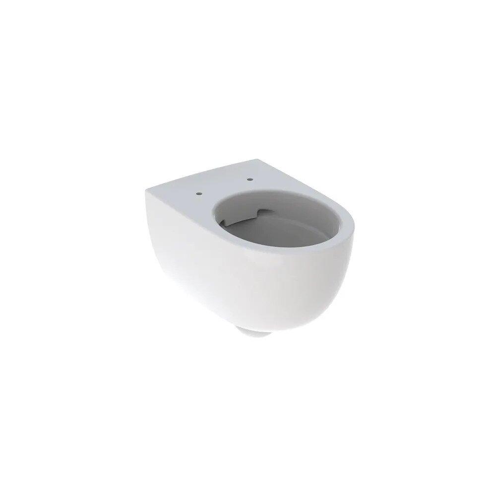 Vas wc suspendat Geberit Selnova Rimfree fara capac alb cu forma inchisa