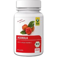 Acerola capsule bio 80 buc. - Vitamina C naturala - Raab
