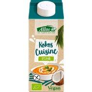Allos - Crema de cocos lichida pentru gatit FARA GLUTEN si LACTOZA, 200 ml
