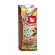 Lapte vegetal de ovaz cu ciocolata si calciu bio 1L LIMA