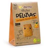 Biscuiti din spelta cu portocale si vanilie, indulciti cu agave bio 45g Bio Darma
