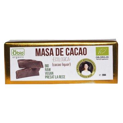 Cacao liquor (masa de cacao) raw bio 250g
