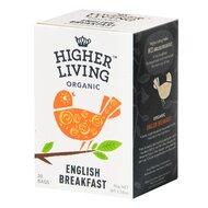 Ceai ENGLISH BREAKFAST bio, 15 plicuri, Higher Living