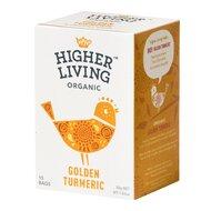 Ceai GOLDEN TURMERIC bio, 15 plicuri, Higher Living