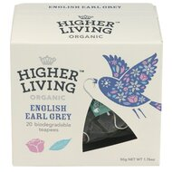 Ceai premium ENGLISH EARL GREY bio, 20 plicuri, Higher Living