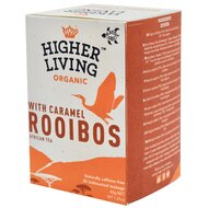 Ceai ROOIBOS si CARAMEL bio, 20 plicuri, Higher Living