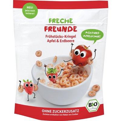 Cereale pt. mic dejun cu mere si capsuni bio 125g Erdbar