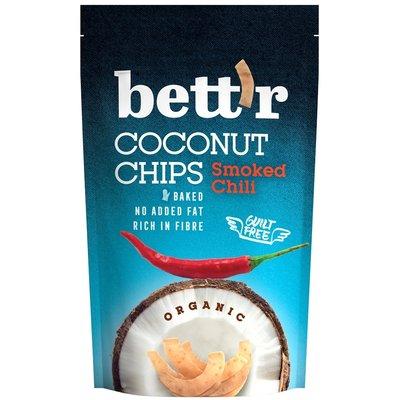 Chips de cocos cu chilli bio 70g Bettr PROMO