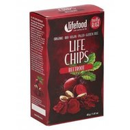 Life Chips din sfecla rosie raw bio 40g Lifefood