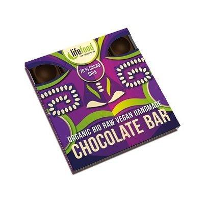 Ciocolata cu 70% cacao si chia raw bio 35g Lifefood