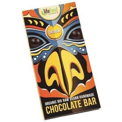 Ciocolata cu nuci caju raw bio 70g Lifefood