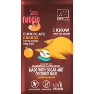 Ciocolata cu portocale bio 80g Super Fudgio