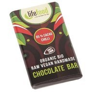 Ciocolata MINI cu 85% cacao si chilli raw bio 15g Lifefood
