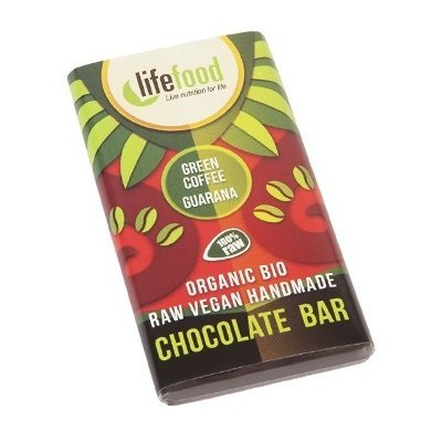 Ciocolata MINI cu guarana si cafea verde raw bio 15g Lifefood
