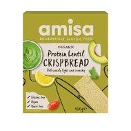 Crispbread (painici) proteice cu linte fara gluten eco, 100g, Amisa