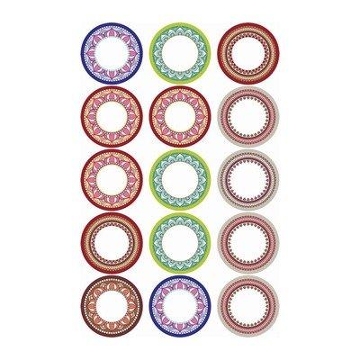 Etichete goale pentru recipiente, ∅ 5.5 cm, set 15 buc
