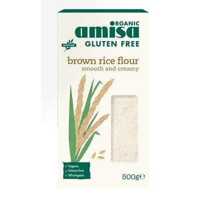 Faina de orez brun bio fara gluten 500g AMISA