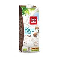 Lapte de orez cu cocos bio 1L Lima PROMO
