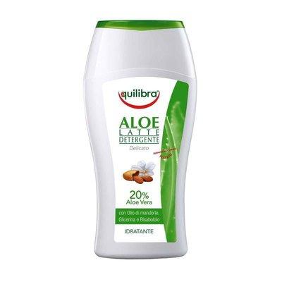 Lapte demachiant cu Aloe Equilibra, 200 ml
