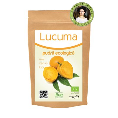 Lucuma pulbere raw bio 250g PROMO