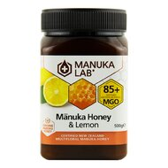 Miere de Manuka poliflora cu lamaie MANUKA LAB, MGO 85+ Noua Zeelanda, 500 g, naturala