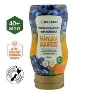 Miere tartinabila din flora salbatica a Noii Zeelande cu miere de Manuka MGO +40 si extract de afine MELORA, 400 g, naturala