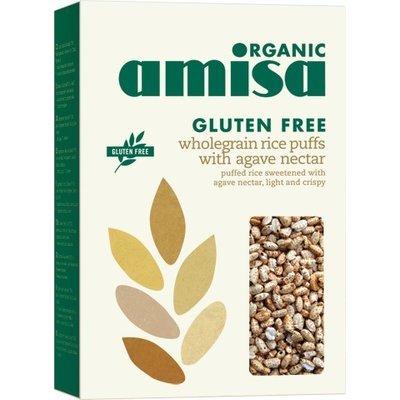 Orez integral expandat cu sirop de agave fara gluten bio 225g