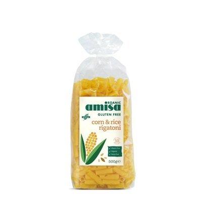 Paste rigatoni din orez si porumb fara gluten bio 500g