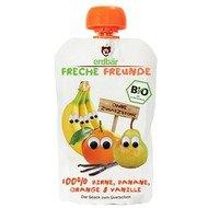 Piure de pere, banane, portocale si vanilie bio 100g Erdbar