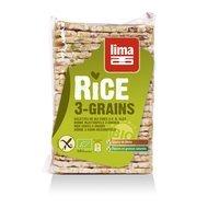 Rondele de orez expandat cu 3 cereale bio 130g Lima