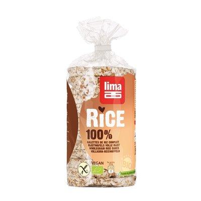 Rondele de orez expandat cu sare bio 100g Lima