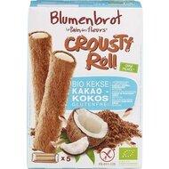 Rulouri crocante cu crema de cocos FARA GLUTEN, 125g, Blumenbrot